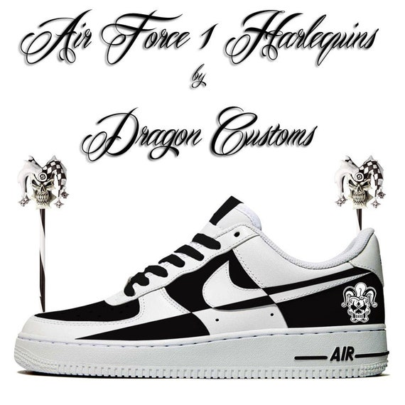 Harlekin Court Jester Custom Nike Air Force 1 Sneakers