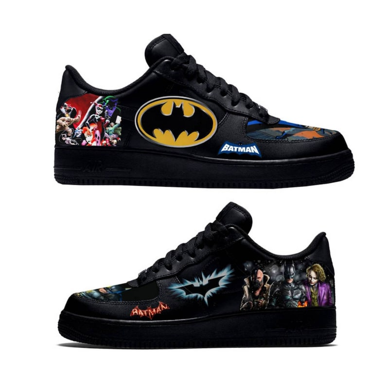 b772b7c6b127 Batman Now   Then Custom Nike Air Force 1 Low