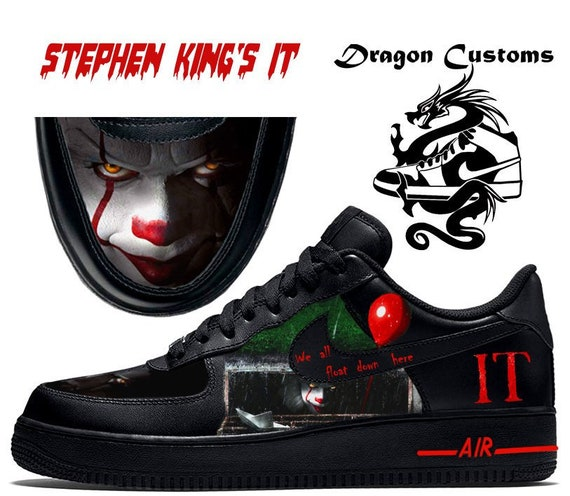 wide varieties store outlet store sale Stephen King's IT 2017 Custom Nike Air Force 1 Sneakers