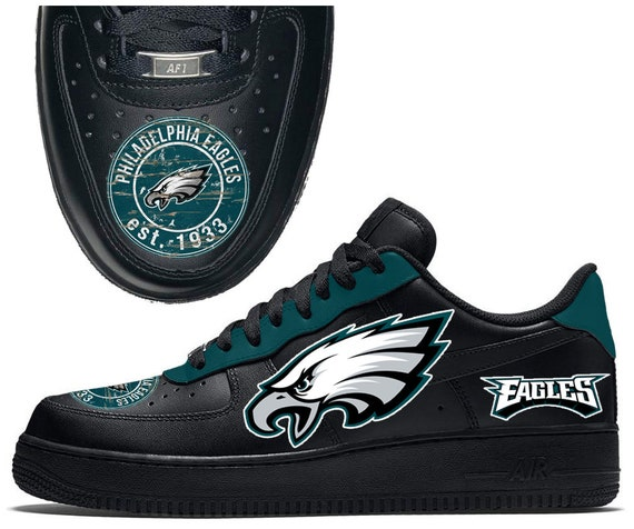 Philadelphia Eagles Custom Nike Air Force 1 Baskets AF1 | Etsy