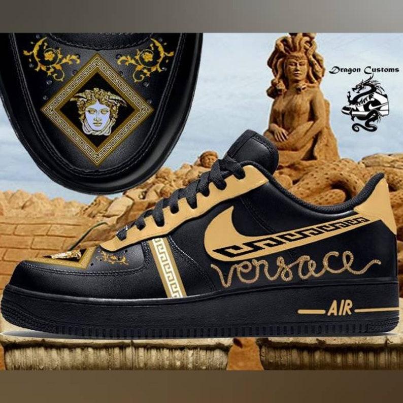 d721a40170be1 Custom Versace Nike Air Force 1 Sneakers