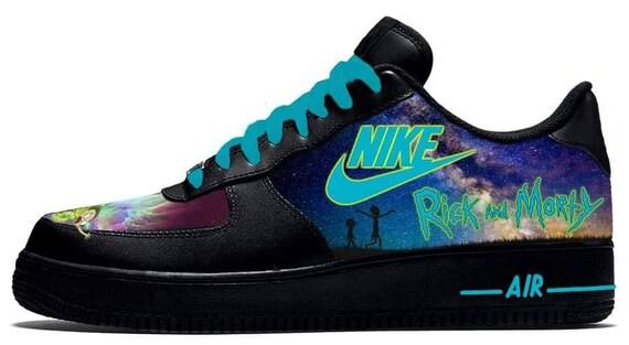 Custom Nike Air Force 1 Rick & Morty Sneakers