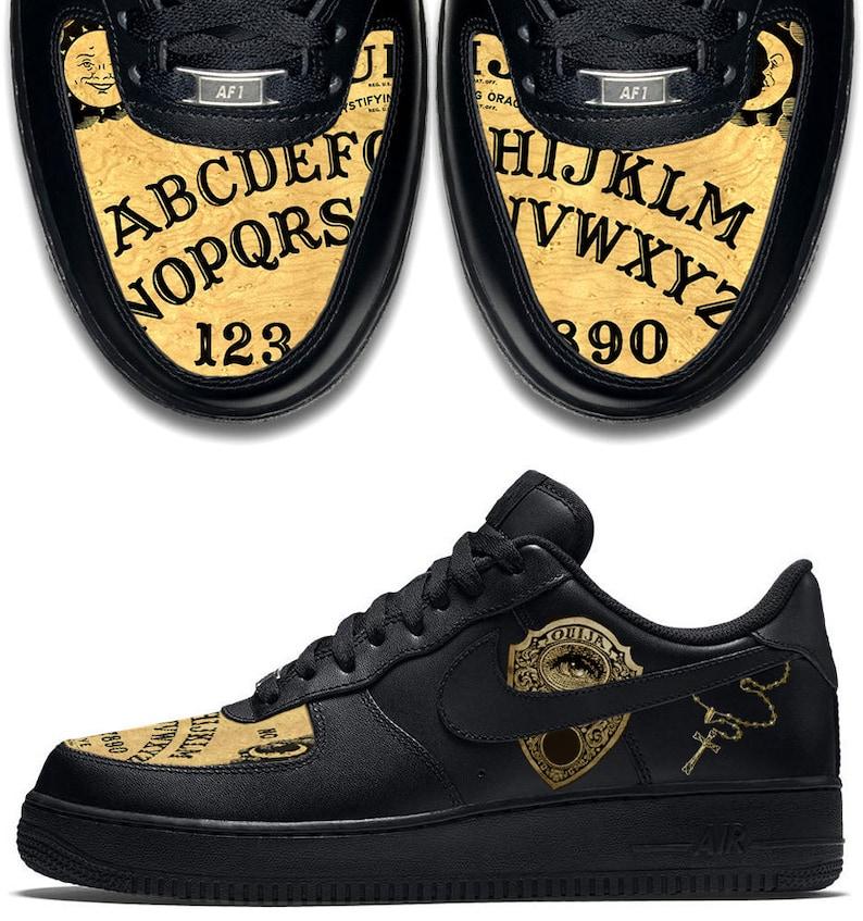 the best attitude 94401 0c9ee Custom Nike Air Force 1 AF1 Ouija Board Sneakers  Etsy