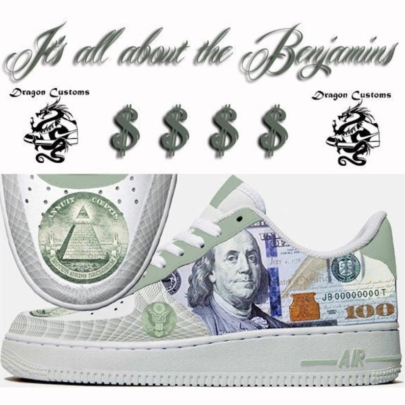 7f32660ba5638 100 Dollar Bill Custom Nike Air Force 1 Sneakers