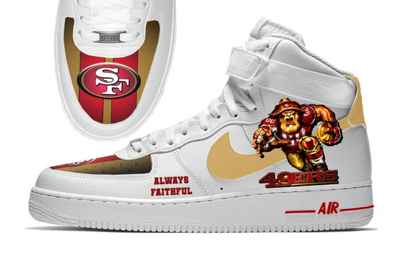 San Francisco 49ers Custom Nike Air Force 1 High Top Sneakers