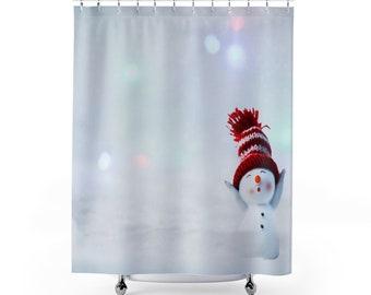 Winter Snowman Shower Curtains