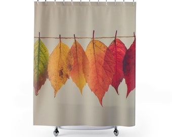 Fall Leaf Shower Curtains