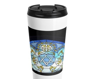 Hanukkah Stainless Steel Travel Mug
