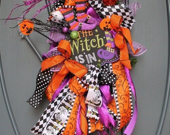 The Witch Is in Halloween Swag