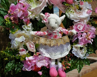 Easter Lamb wreath