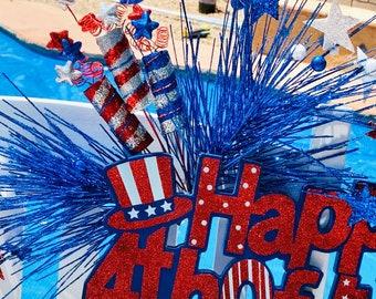 Happy 4th of July Door Hanger