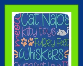 Cat Quote Sherpa Fleece Blanket