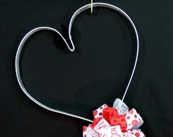 Over-sized Metal Heart Large Wall Hanging - Valentines Art