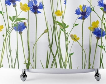 Wild Flower Shower Curtains