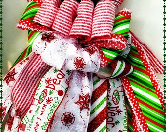 Christmas Deco Mesh Tree Candy Cane Wall Hanging Holiday Set