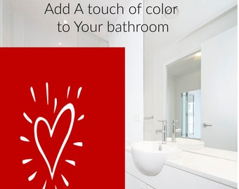 Red Heart Shower Curtains