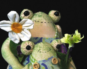 Frog Decor-Frog Decoration Party-Frog Decorations-Frog Doll-Frog Dress-Frog On A Bike Table Spring and Summer Decoration-P and C Designs Co