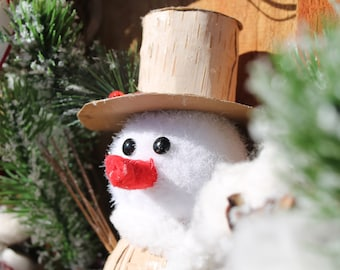 Rustic Christmas Snowman Wreath- Winter Rustic Snowman Wreath
