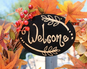 "Fall ""Welcome"" Wreath"