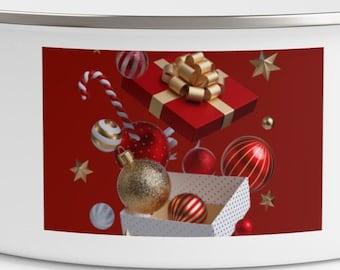Christmas Enamel Bowls