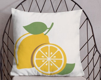 Spring Citrus Throw Pillow