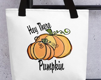 "Pumpkin ""Hey There' Tote bag"