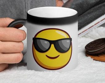 Cool Emoji Matte Black Magic Mug