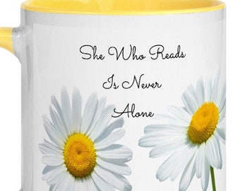She Who Reads Mug with Color Inside