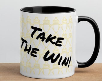 Take The Win! Gift Mug with Color Inside