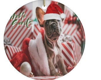 French Bulldog Ceramic Ornaments