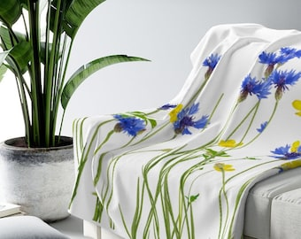 Wildflower Sherpa Fleece Blanket