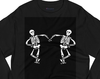 Skeleton  Champion Long Sleeve Shirt