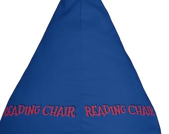 Blue Reading Bean Bag Chair Cover