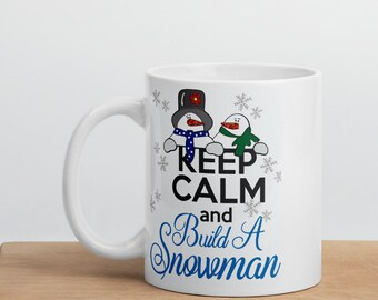 Keep Clam and Build A Snowman Mug