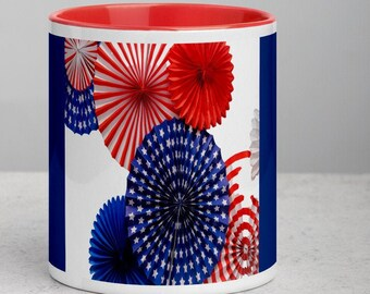 4th of July Mug with Color Inside