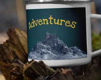 Adventures Enamel Mug