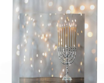 Elegant Hanukkah Shower Curtains