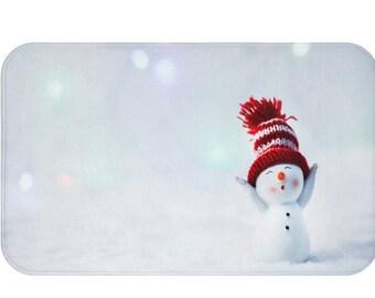 Winter Snowman Bath Mat