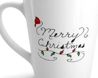 Red Cardinal Latte mug