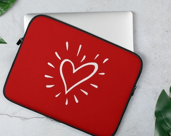 Red Heart Laptop Sleeve