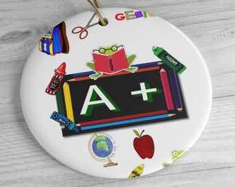 Teacher Ceramic Ornaments