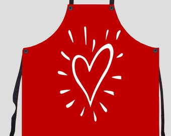 Red Heart Aprons