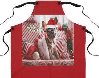 Hello Santa  French Bulldog Apron