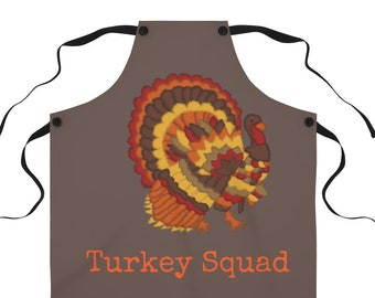 Turkey Apron-Turkey-Thanksgiving Apron-Thanksgiving Aprons for Women-Thanksgiving Aprons-Apron for Women-Apron for Men-Aprons-Kitchen Dining