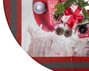 Red Joy Christmas Tree Skirt