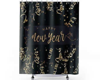 Celebrate New Years Shower Curtains