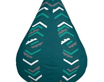 Geometric Bean Bag Chair Cover