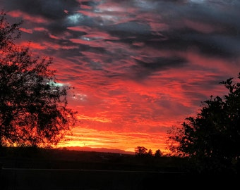 Arizona Sunset Wall Art Photography Gallery Canvas Style- Fire in the Sky
