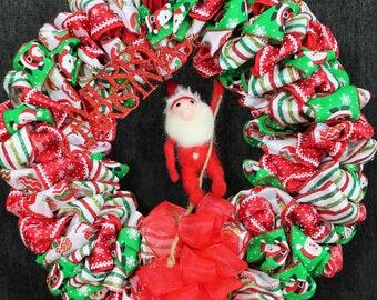 Here Comes Santa! Festive Christmas Wreath