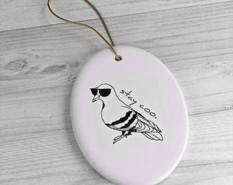 Stay Coo Pigeon Ceramic Ornaments